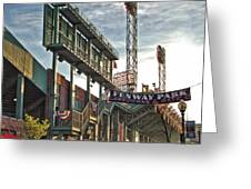 Game Day - Fenway Park Greeting Card by Joann Vitali