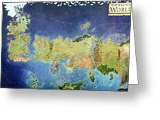 Game Of Thrones World Map Greeting Card by Gianfranco Weiss