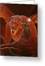 Gandalf Fighting The Balrog Greeting Card by John Silver