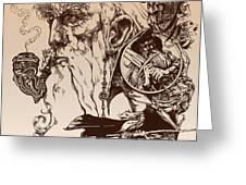 gandalf- Tolkien appreciation Greeting Card by Derrick Higgins