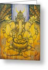 Ganesha Greeting Card by Vrindavan Das