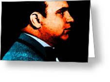 Gangman Style - Al Capone c28169 - Black - Painterly Greeting Card by Wingsdomain Art and Photography