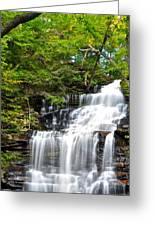 Ganoga Falls Ricketts Glen Greeting Card by Frozen in Time Fine Art Photography