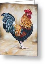 Garden Center's Rooster Greeting Card by Ilse Kleyn