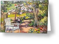 Garden Corner Greeting Card by Dominique Amendola