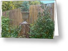 Garden Decor 2 Greeting Card by Muriel Levison Goodwin