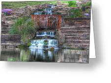 Garden Falls Greeting Card by Tony  Colvin