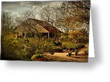 Garden Fantasy Greeting Card by Linda Unger
