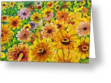Garden Flowers Greeting Card by Don Thibodeaux