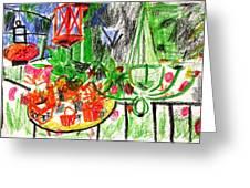Garden Gala Greeting Card by Anita Dale Livaditis