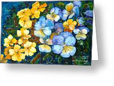 Garden Harmony Greeting Card by Zaira Dzhaubaeva