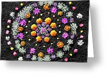 Garden  Mandala 2009  Greeting Card by Joseph Duba