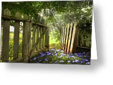 Garden Of Eden Greeting Card by Debra and Dave Vanderlaan