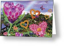 Garden Of Love 2 Greeting Card by Alixandra Mullins