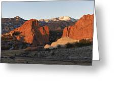 Garden Of The Gods Greeting Card by Aaron Spong