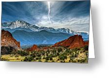 Garden Of The Gods Greeting Card by Brandon Alms