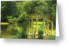 Garden - The Temple of Love Greeting Card by Mike Savad