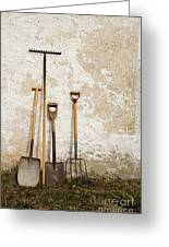Garden Tools Greeting Card by Kennerth and Birgitta Kullman