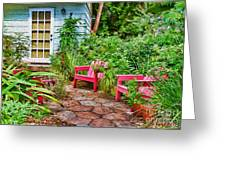 Garden Treasures at Aunt Eden's by Diana Sainz Greeting Card by Diana Sainz