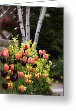 Garden Tulips Greeting Card by Julie Palencia