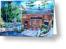Gardening Shed Greeting Card by Scott Nelson