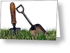 Gardening Tools Greeting Card by Olivier Le Queinec