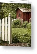 Garden's Entrance Greeting Card by Margie Hurwich