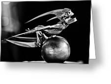 Gargoyle Hood Ornament 2 Greeting Card by Jill Reger