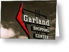 Garland Texas Shopping Greeting Card by Sonja Quintero
