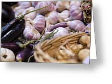 Garlic At the Market Greeting Card by Heather Applegate