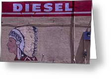Gas Station Indian Chief Greeting Card by Garry Gay