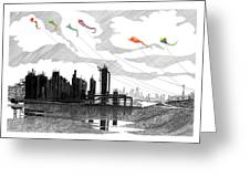 Gas Works Park Seattle Kite Flying  Greeting Card by Jack Pumphrey