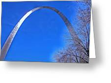 Gateway Arch St Louis 03 Greeting Card by Thomas Woolworth