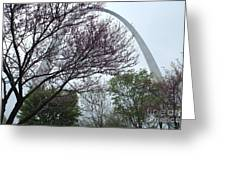 Gateway Arch Greeting Card by Theresa Willingham
