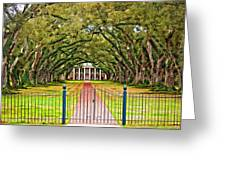Gateway to the Old South paint Greeting Card by Steve Harrington