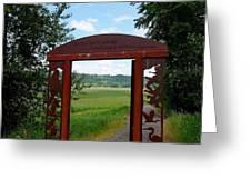 Gateway To The Trail Greeting Card by Lizbeth Bostrom
