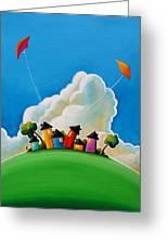Gather Round Greeting Card by Cindy Thornton