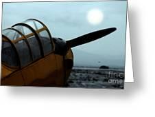 Gathering Rain Dust - PT-26 Harvest Yellow Greeting Card by Steven  Digman