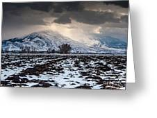 Gathering Winter Storm - Utah Valley Greeting Card by Gary Whitton