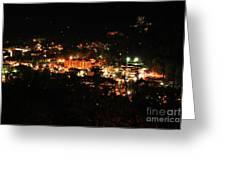 Gatlinburg At Night Greeting Card by Nancy Mueller