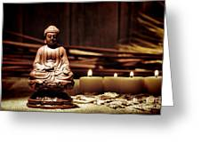 Gautama Buddha Greeting Card by Olivier Le Queinec