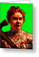 Gave Her Father Forty Whacks - Green Greeting Card by Wingsdomain Art and Photography