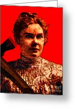 Gave Her Father Forty Whacks - Red Greeting Card by Wingsdomain Art and Photography