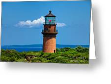 Gay Head Light Greeting Card by Mark Miller