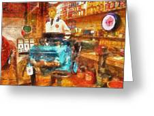 Gearhead Workshop Photo Art Greeting Card by Thomas Woolworth