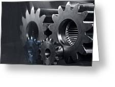 Gears And Power Greeting Card by Christian Lagereek