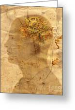 Gears In The Head Greeting Card by Michal Boubin