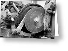 Gears Nuts And Bolts Greeting Card by Jackie Farnsworth
