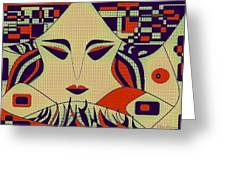 Geisha Greeting Card by Chandrima Dhar