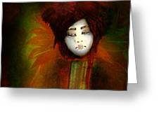 Geisha5 - Geisha Series Greeting Card by Jeff Burgess